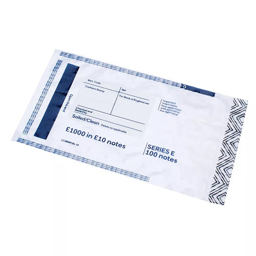 Initial Cash Bags 1000 in 10 Notes Pack of 500 BEVOMIS0004