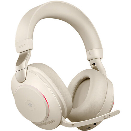 Jabra Evolve2 85 380a MS Stereo Headset Beige 706487020530