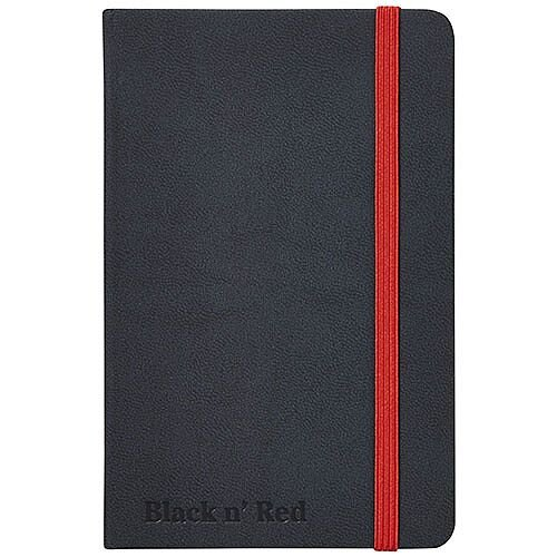 Black n' Red A6 Soft Cover Notebook Black