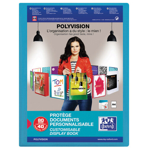 Oxford Display Book 40 Part PP A4 Blue 100206231