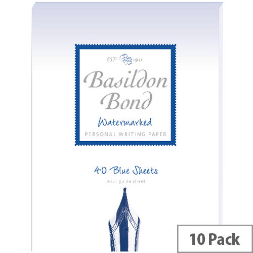 Basildon Bond Blue Writing Pad 137 X 178mm Pack of 10 100100123