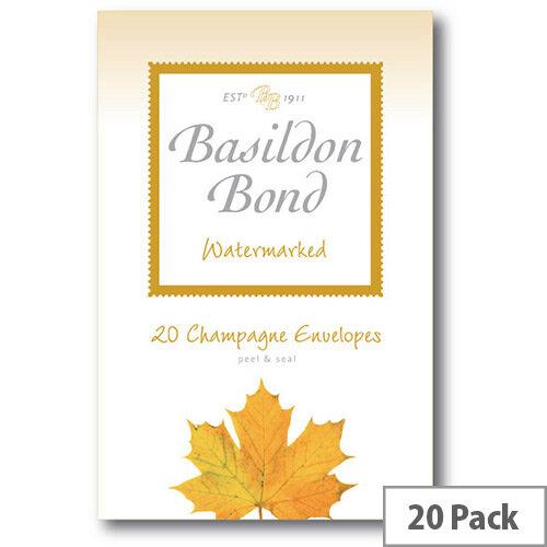 Basildon C6 Champagne Bond Envelope Small Pack of 20