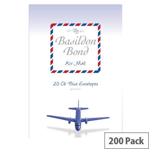 Basildon C6 Bond Blue Airmail Envelopes (Pack of 200)