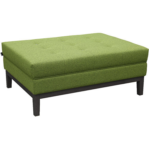 Frovi JIG MODULAR Seating Ottoman With Black Oak Frame H425xW1040xD760mm - Fabric Band G