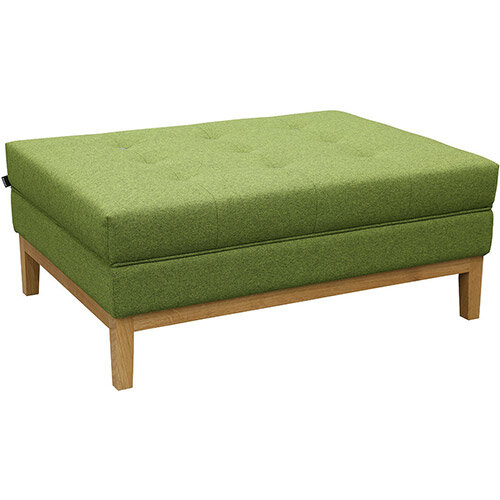 Frovi JIG MODULAR Seating Ottoman With Natural Oak Frame H425xW1040xD760mm - Fabric Band B