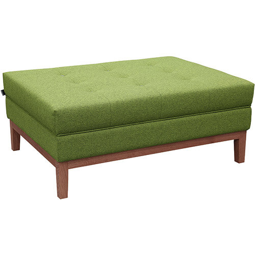 Frovi JIG MODULAR Seating Ottoman With Stained Walnut Frame H425xW1040xD760mm - Fabric Band E