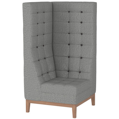 Frovi JIG MODULAR HIGH Seating Corner Unit With Natural Oak Frame H1470xW760xD760mm 430mm Seat Height - Fabric Band G