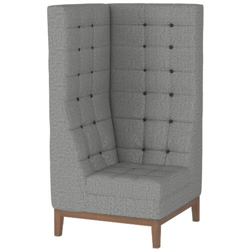 Frovi JIG MODULAR HIGH Seating Corner Unit With Stained Walnut Frame H1470xW760xD760mm 430mm Seat Height - Fabric Band F