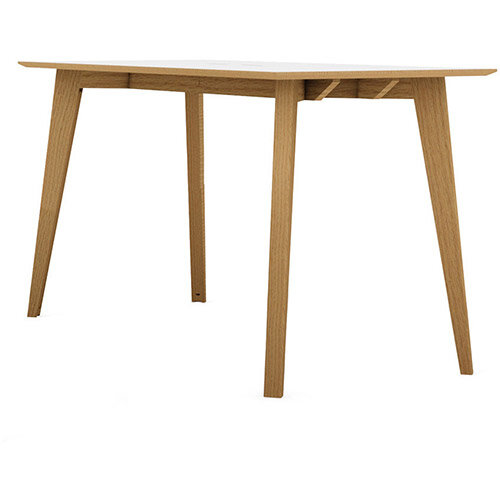 Frovi JIG SOCIAL Poseur Bench Table With 4 Leg Natural Oak Frame W4200xD1200xH1050mm