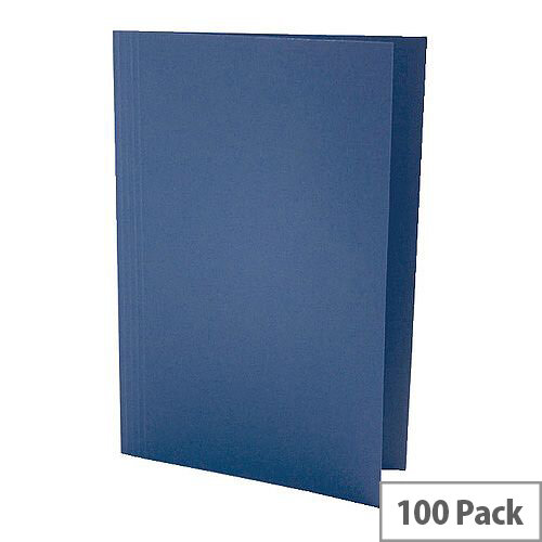 Guildhall Blue Square Cut Folder Foolscap Pack of 100 43203
