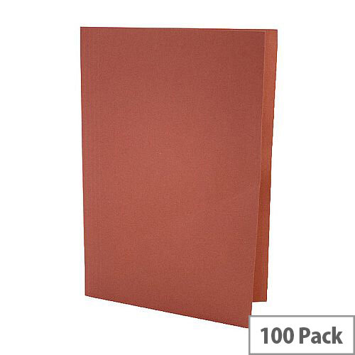 Guildhall Red Square Cut Folder Pack of 100 43208