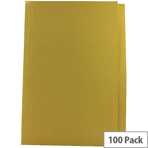 Guildhall Yellow Square Cut Folder Foolscap Pack of 100