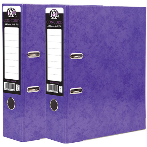 Concord IXL 70mm Selecta Lever Arch File A4 Purple Pack of 10 BOGOF JT816019