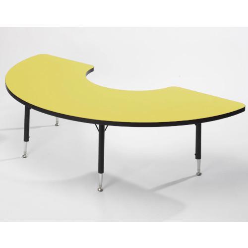 Height adaptable Arc Table - Yellow 43cm -63.5cm