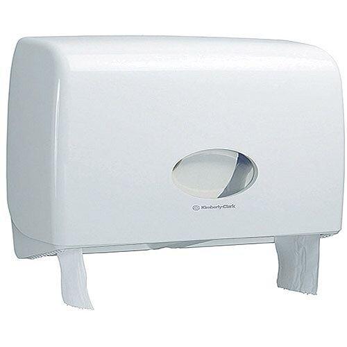 Kimberly Clark Ripple Midi Jumbo Non Stop Toilet Rolls Plastic Dispenser White 6991