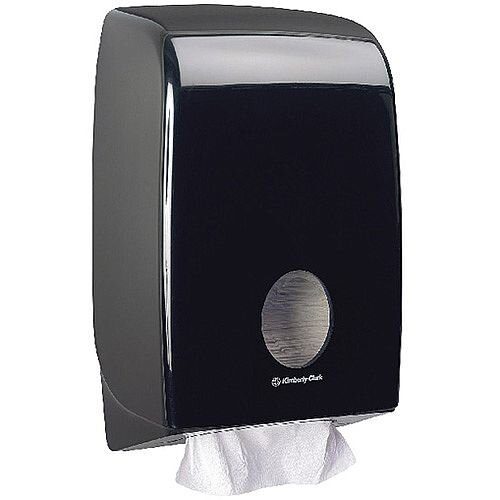 Kimberly Clark Aquarius Black Hand Towel Dispenser Black 7171