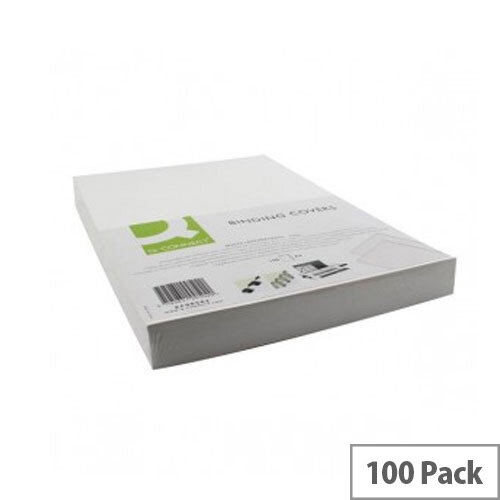 Q-Connect A4 White PVC Comb Binder Cover 250gsm Pack of 100 KF00498