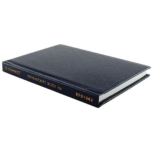Q-Connect A6 Manuscript Book Feint Ruled With 96 Pages - Ideal For Use In Receptions, Offices, Schools, Colleges &More. Feint Ruled Lines For Optimum Notation.