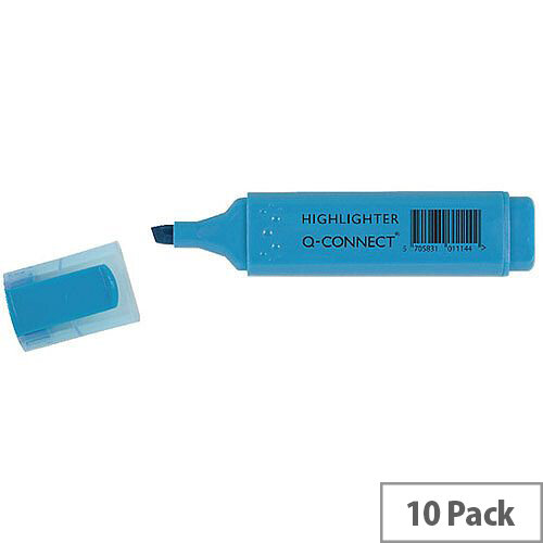 Q-Connect Highlighter Pens Blue Pack 10
