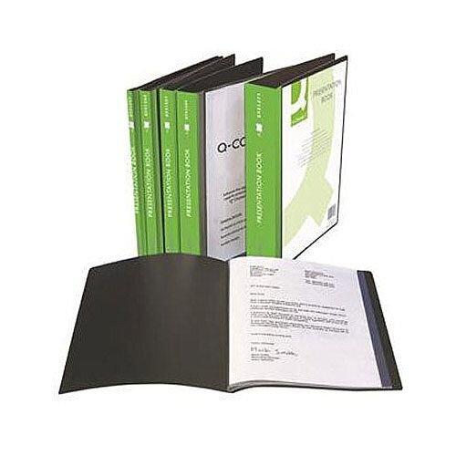 Q-Connect Presentation Display Book 40 Pocket Black