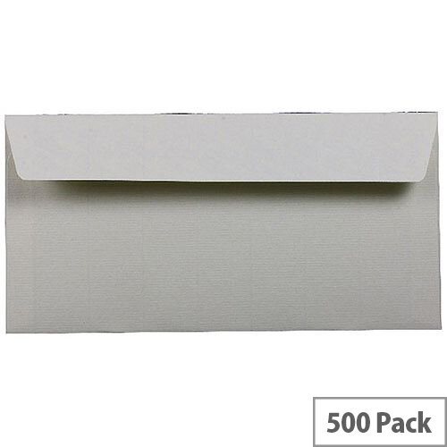 Q-Connect White Envelope DL Peel and Seal Laid Vellum 100gsm Pack of 500 KF01443