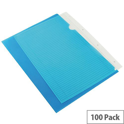 Q-Connect Cut Flush Folder A4 Pack of 100 Blue
