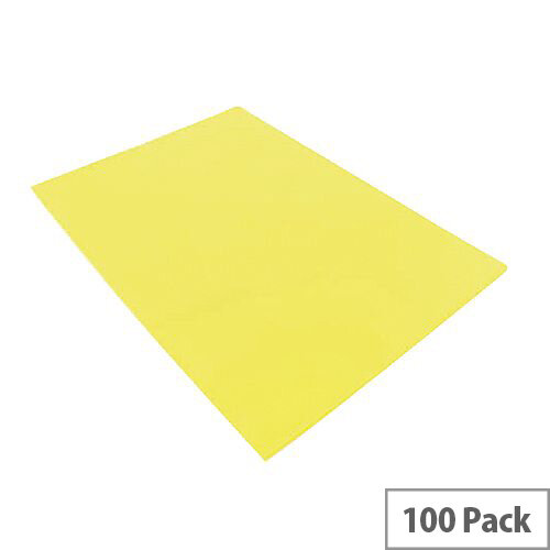 Q-Connect Cut Flush Folder A4 Pack of 100 Yellow