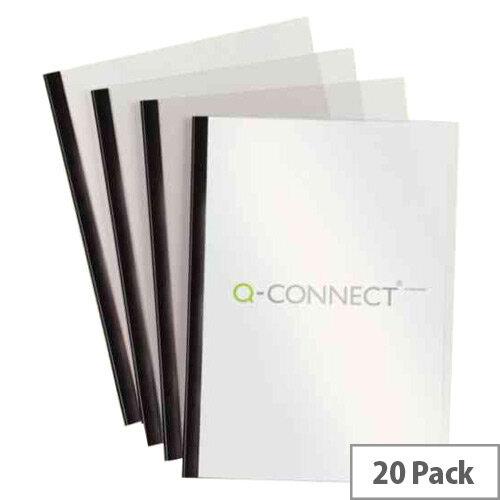 q connect a4 5mm slide binder cover set black pack of 20 kf01926