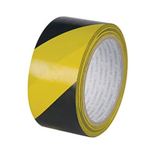 Q-Connect Yellow/Black Hazard Tape Pack of 6