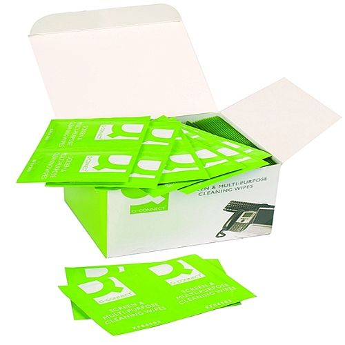 Q-Connect Screen & Multi-Purpose Wipes Pack of 100 KF04503