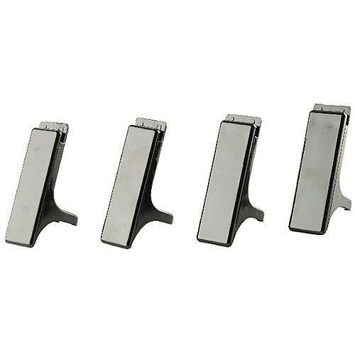 Q-Connect Executive Letter Tray Risers Black Pack of 4
