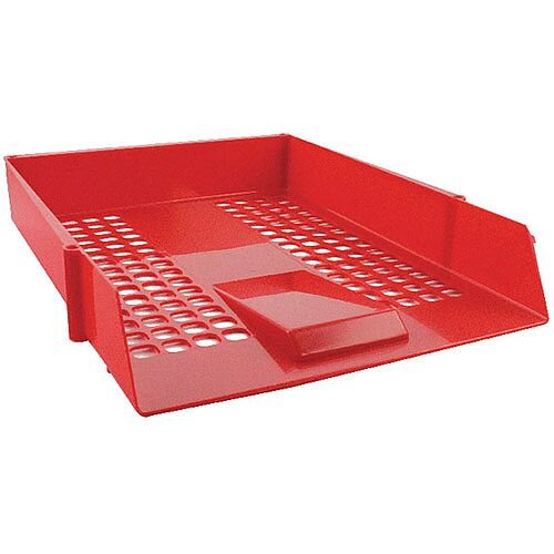 Q-Connect Letter Tray Plastic Red KF10055