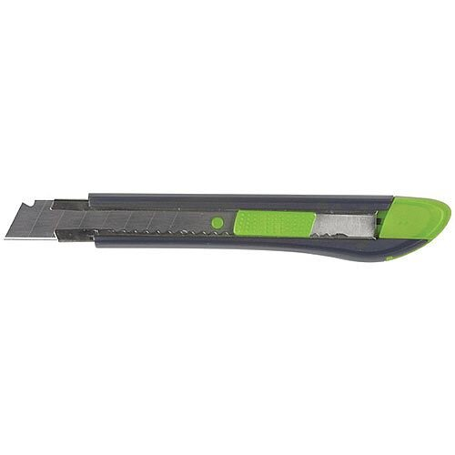 Q-Connect Heavy Duty Box Cutter 18mm - Slit for snapping off blunt blades - Replacement blades are easy to insert