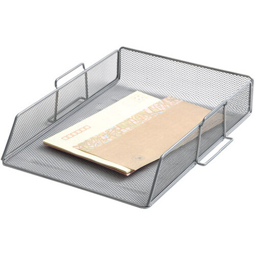 Q-Connect Stackable Letter Tray Silver KF17301
