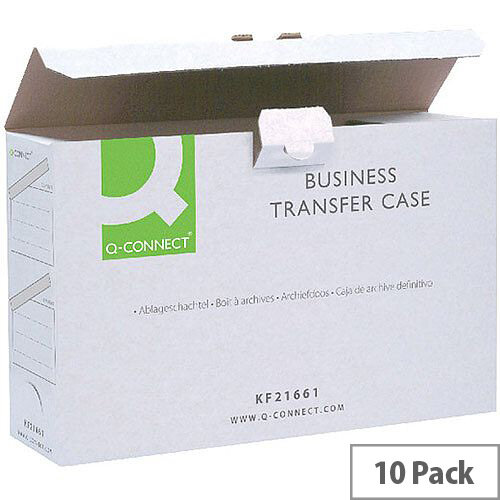 Q-Connect Business Transfer Case Foolscap Pack 10