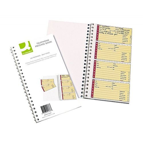 Q-Connect Telephone Message Book 200 Messages Duplicate