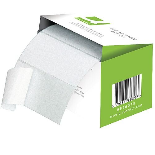 Q-Connect Adhesive Address Label Roll 76x50mm (1500 Labels)