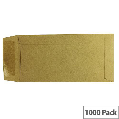 Q Connect Envelope DL Pocket 70gsm Manilla Gummed Pack of 1000
