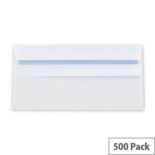 Q-Connect Envelope DL 100gsm White Self-Seal Recycled Pack of 500 KF3504