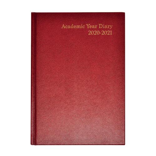Academic Diary Week to View A5 Burgundy 2020-21 KF3A5ABG21
