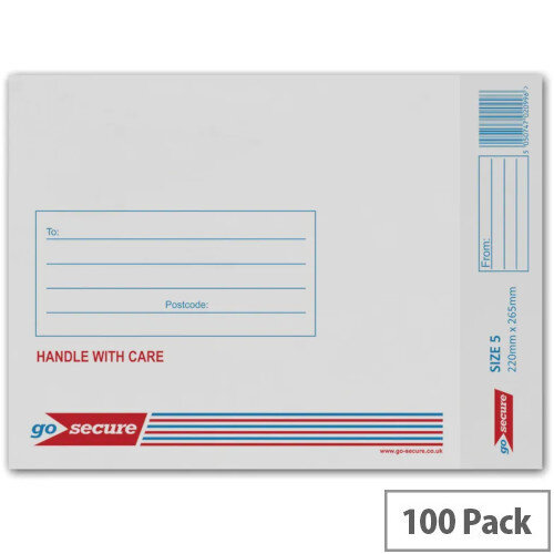 GoSecure Bubble Lined Envelope Size 5 220x265mm White Pack of 100