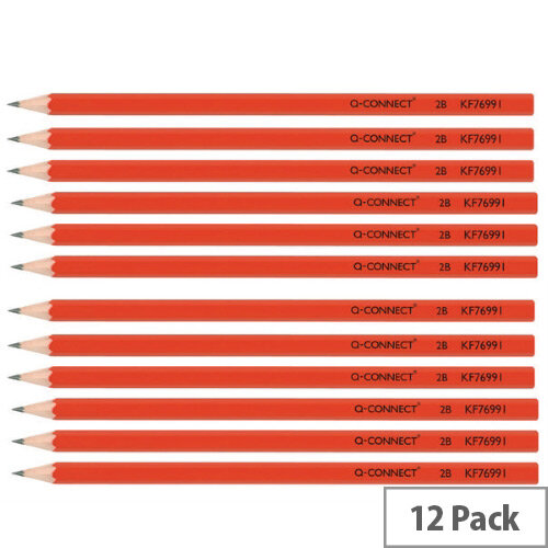 Office Pencil 2B Pack of 12 Q-Connect