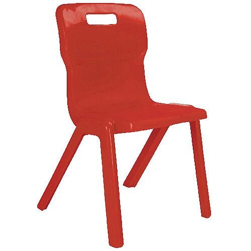 Titan One Piece School Chair Size 1 260mm Red Pack of 10