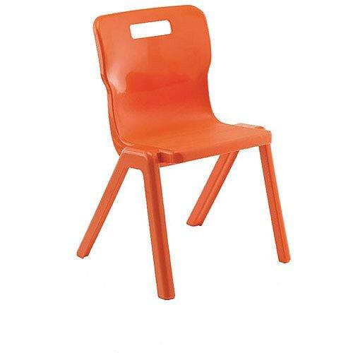 Titan One Piece School Chair Size 5 430mm Orange Pack of 10