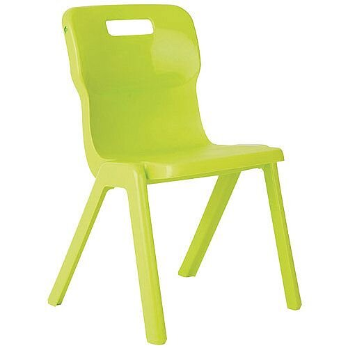 Titan One Piece School Chair Size 5 430mm Lime Pack of 10