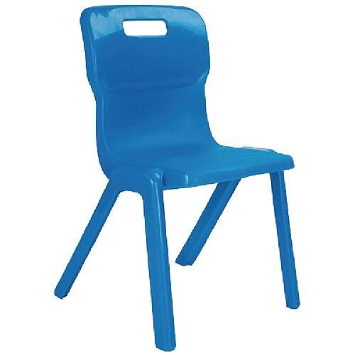 Titan One Piece School Chair Size 1 260mm Blue Pack of 30