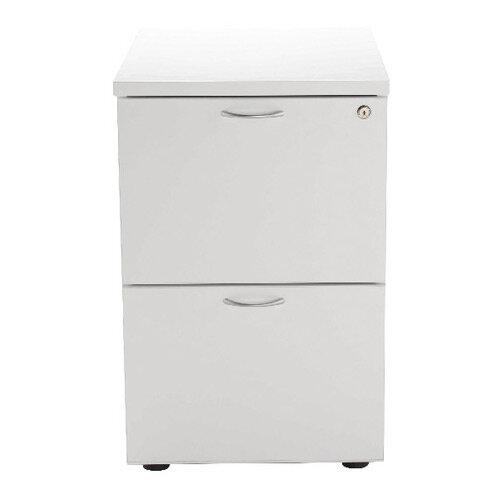 Jemini 2 Drawer Filing Cabinet White KF78666