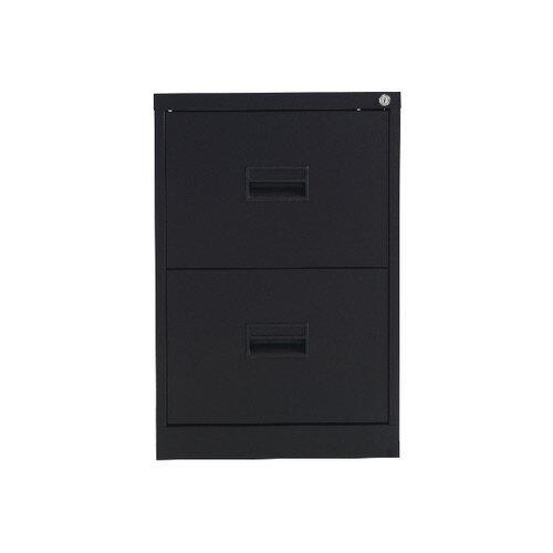 Talos 2 Drawer Steel Filing Cabinet Black KF78762