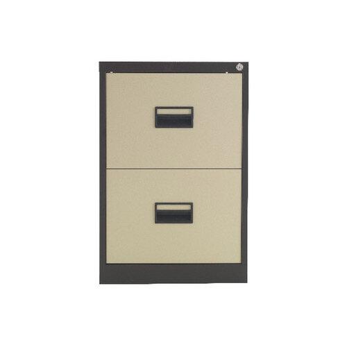 Talos 2 Drawer Steel Filing Cabinet Coffee Cream KF78763