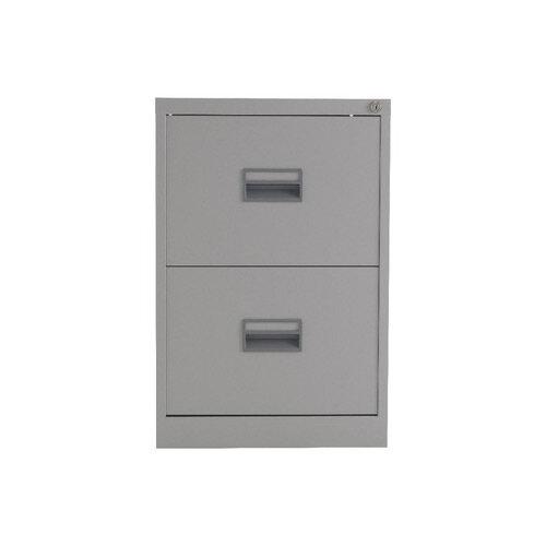 Talos 2 Drawer Steel Filing Cabinet Grey KF78764